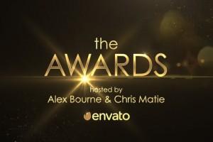 AE模板-金色粒子闪耀年会活动颁奖典礼片头 Golden Shine Awards Promo