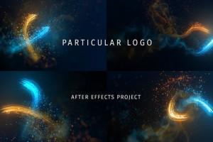 AE模板-漂亮粒子光束LOGO片头展示 Particular Logo