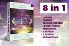 AE模板-抽象粒子颁奖典礼栏目包装开场片头 Awards Pack 8in1
