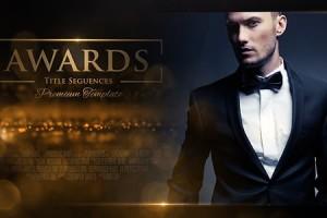 AE模板-高贵华丽金色粒子颁奖典礼图文介绍展示 Awards Promo