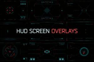 AE模板-科技感画面HUD窗口扫描界面 HUD Screen Overlays