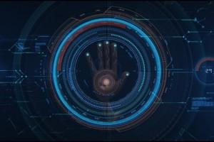 AE模板-科技感HUD手掌触摸指纹解锁LOGO标志呈现片头 Hi Tech Opener