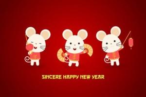 AE模板-可爱卡通老鼠贺新年中国2020春节LOGO片头 Chinese New Year Greeting