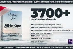 AE脚本+PR预设-3700组扁平化文字标题背景字幕排版指示线Logo图标MG动画 Trendy Graphics V3 破解版