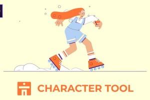 卡通人物角色手脚生成绑定MG动画AE脚本 Character Tool V1.0.1 + 视频教程