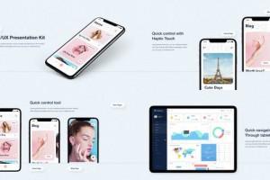 AE模板-iPhone 11手机APP UI/UX时尚宣传展示片头动画