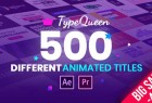 AE+PR脚本预设-550+创意时尚文字标题运动排版字幕动画 TypeQueen