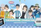 AE模板-360度可旋转卡通人物男女小孩角色场景MG动画素材包v2.03