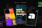 AE模板+PR预设-127组INS风格竖屏视频文字包装动画