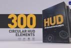 AE模板-300组高科技HUD圆环图形动画