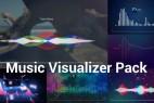 AE模板-33组创意音乐波形可视化节奏感动画