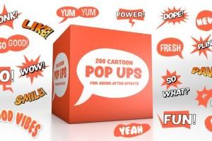 AE模板-200组卡通综艺对话框文字气泡字幕动画
