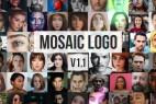 AE模板-多张图片马赛克照片墙LOGO片头 Mosaic Photos Logo Reveal V 1.1