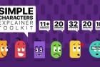 AE模板+PR预设-抽象可爱卡通角色简单小人物MG动画解说工具包