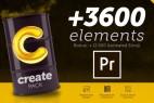 AE脚本+PR预设-3600+文字标题排版字幕指示线背景图形转场动画预设