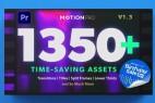 Premiere/PR模板预设-1350组文字标题字幕条图形背景排版动画视频转场预设