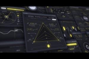 AE模板-100组科技感UI用户界面HUD元素动画包