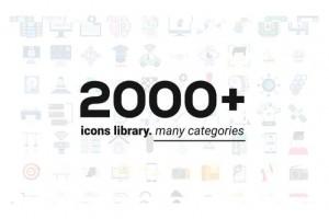 AE模板-2000+常用扁平化ICON图标MG动画 生活日常金融标签网络等