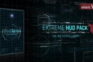 AE模板-FUI高科技HUD界面UI动画科幻线条元素包