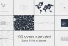AE模板-扁平化仿苹果发布会创意图形简洁线条文字介绍展示宣传片头MG动画两组