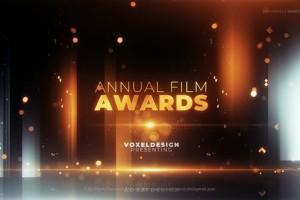 AE模板-金色粒子活动颁奖年会文字标题开场片头 Award Opener