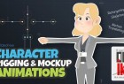 AE模板-自定义二维卡通MG人物角色骨骼绑定Duik映射动作动画