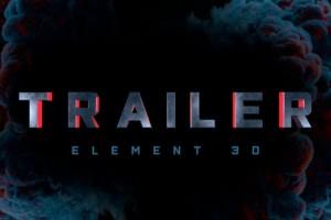 AE模板-E3D制作三维立体文字标题史诗震撼预告片头 Strong Trailer Titles