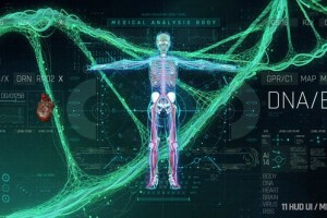 AE模板-科技感医疗人体医学HUD DNA心脏科幻元素UI动画