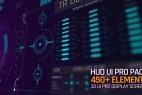 AE模板-450+科技感医疗军事科幻HUD UI界面元素动画