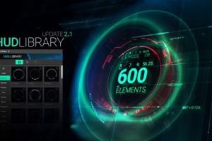AE脚本-600+科技感HUD屏幕图像线条边框UI界面元素V2.1 破解版