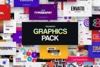 AE脚本-文字标题排版图形背景转场动画社交人名字幕条Logo动画包