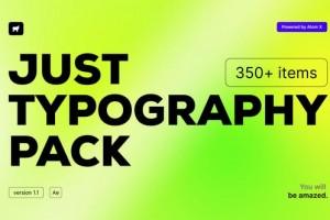 AE脚本-350组创意时尚商务企业简洁文字标题排版字幕动画预设V2 破解版