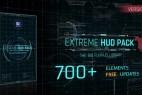 AE模板-700+FUI高科技HUD界面UI动画科幻线条元素包V1.5