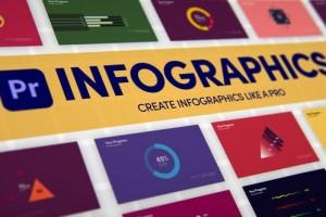 PR预设-146组图表柱状图饼状图点线趋势信息数据图动画