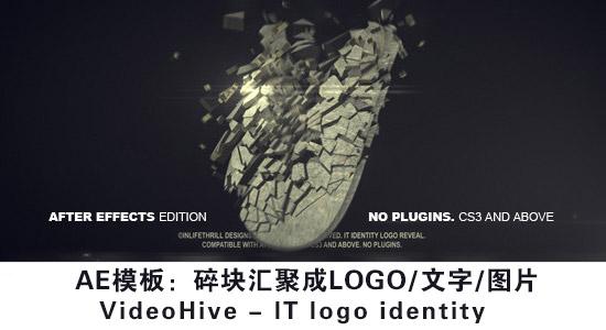 AE模板:碎块汇聚成LOGO/文字/图片 VideoHive – IT logo identity