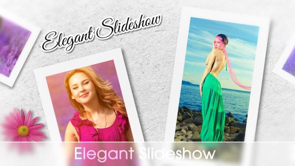 AE模板-个性相册图片展示 VideoHive Elegant Slideshow