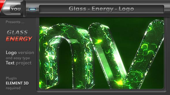 AE模板-能量玻璃质感 Videohive Glass Energy Logo