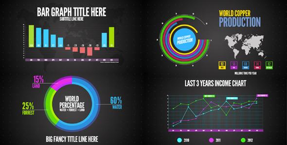 AE模板-信息图表数据表格 VideoHive Infographics