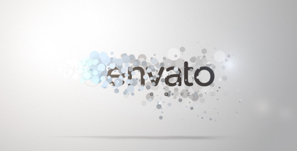 AE模板-小清新扁平化粒子LOGO展示 VideoHive Smooth Particle Logo
