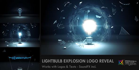 AE模版-玻璃灯泡破碎效果logo展示Videohive Light Bulb Explosion Logo Reveal