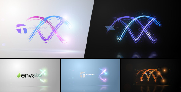AE模板-光线环绕LOGO展示 VideoHive Twisting Streaks Logo