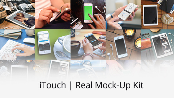 AE模版-网站广告促销真实触摸屏幕(绿屏抠像)VideoHive iTouch Real Mock-Up Kit