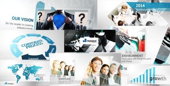 AE模版:公司企业宣传发展历程时间线图文展示 corporate