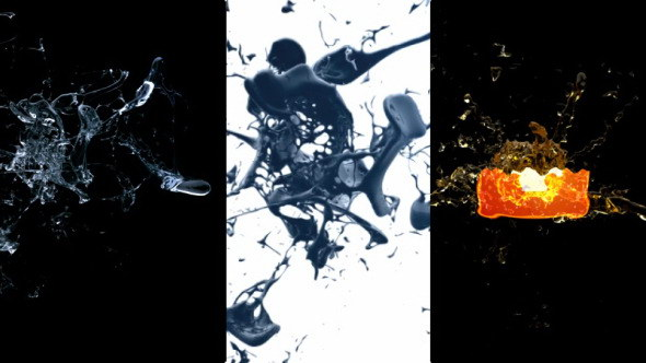 AE模版:液体飞溅LOGO标志汇聚片头 Splash Logo Reveal