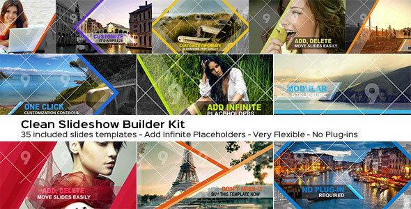 AE模板:MG形状动作画面切换效果 The Slider Wizard Builder Kit