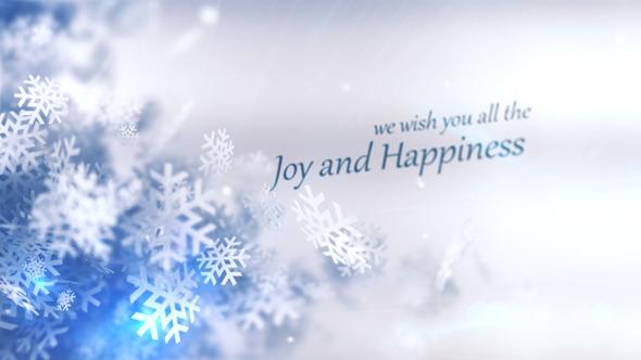 AE模版:冬季圣诞节粒子元素LOGO片头展示 Christmas Winter Rapsody