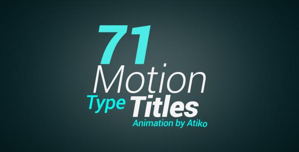 AE模版:多组个性文字标题动态排版效果 Motion Type Title Animations