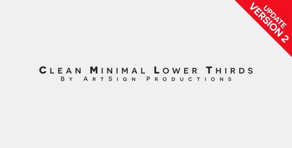 AE模板:简洁迷你动态字幕显示 Clean Minimal Lower Thirds 12094421