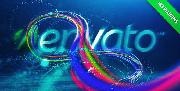 AE模版 水下粒子线条LOGO片头展示  Underwater Logo Reveal