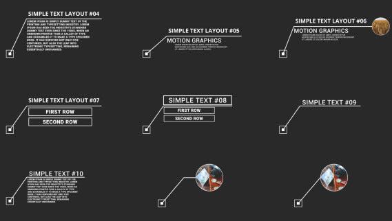 AE模板:40种线条呼出图文标注解说信息特效  免费下载